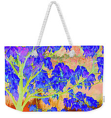 Weekender Tote Bag featuring the digital art Lime Tree Sunrise by Ann Johndro-Collins