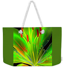 Lime Twist Weekender Tote Bag