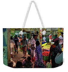 Weekender Tote Bag featuring the photograph Limes For Sale by Mike Reid