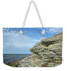 Weekender Tote Bag featuring the photograph Limestone Cliffs by Kennerth and Birgitta Kullman
