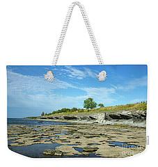 Weekender Tote Bag featuring the photograph Limestone Coast Patterns by Kennerth and Birgitta Kullman