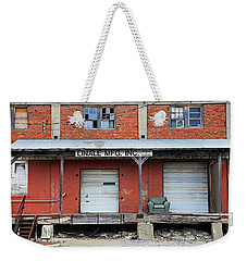 Weekender Tote Bag featuring the photograph Linale Mfg by Christopher McKenzie