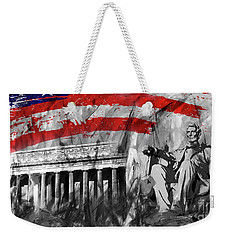 Weekender Tote Bag featuring the painting Lincoln Abe by Gull G