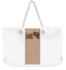 Lincoln And The Gettysburg Address Weekender Tote Bag by War Is Hell Store
