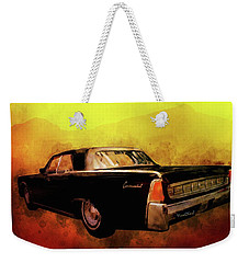Lincoln Continental Shrine To Understated Good Looks Weekender Tote Bag