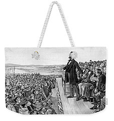 Lincoln Delivering The Gettysburg Address Weekender Tote Bag by War Is Hell Store