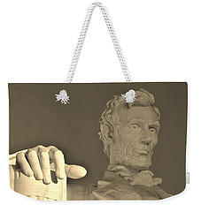 Lincoln Head And Hand Weekender Tote Bag