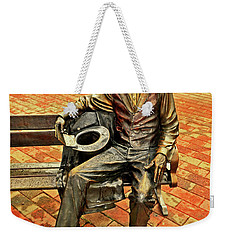 Weekender Tote Bag featuring the photograph Lincoln Library Statue 004 by George Bostian