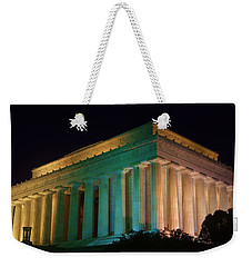 Lincoln Memorial At Night Weekender Tote Bag