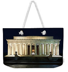 Weekender Tote Bag featuring the photograph Lincoln Memorial At Twilight by Andrew Soundarajan