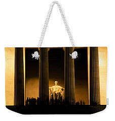 Lincoln Memorial Illuminated At Night Weekender Tote Bag by Panoramic Images