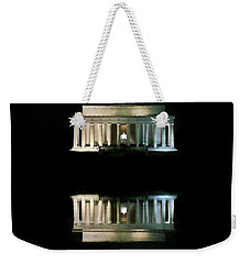 Weekender Tote Bag featuring the photograph Lincoln Memorial by Lorella Schoales