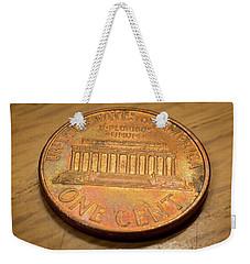 Lincoln Penny Weekender Tote Bag