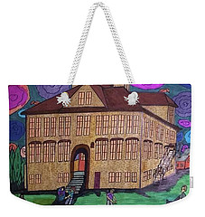 Weekender Tote Bag featuring the painting Lincoln School. by Jonathon Hansen