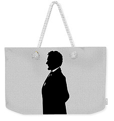 Lincoln Silhouette And Signature Weekender Tote Bag by War Is Hell Store