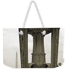 Weekender Tote Bag featuring the photograph Lincoln To Washington by Angela DeFrias