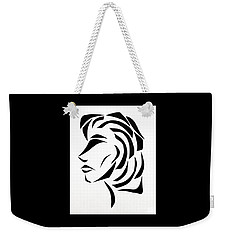 Weekender Tote Bag featuring the mixed media Lindsay by Delin Colon