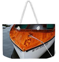 Lindy Lou Wood Boat Weekender Tote Bag