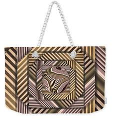 Weekender Tote Bag featuring the digital art Line Geometry by Ron Bissett