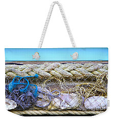 Weekender Tote Bag featuring the photograph Line Of Debris II by Stephen Mitchell