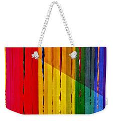 Line Of Fall Colors Weekender Tote Bag