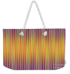 Weekender Tote Bag featuring the digital art Lines 102 by Bruce Stanfield