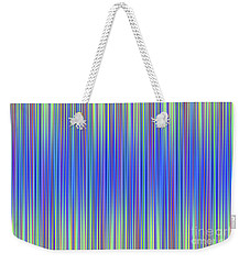 Weekender Tote Bag featuring the digital art Lines 103 by Bruce Stanfield