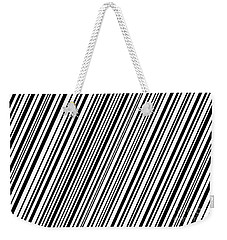 Weekender Tote Bag featuring the digital art Lines 7 Diag by Bruce Stanfield