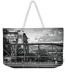 Lines And Angles In Black And White Weekender Tote Bag