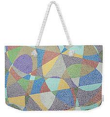 Lines And Curves Weekender Tote Bag by Kruti Shah