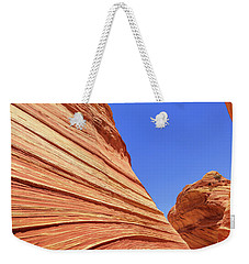 Weekender Tote Bag featuring the photograph Lines by Chad Dutson