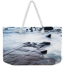 Weekender Tote Bag featuring the photograph Lines In The Rocks by Parker Cunningham