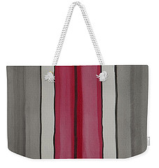 Weekender Tote Bag featuring the painting Lines by Jacqueline Athmann