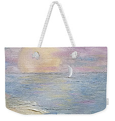 Weekender Tote Bag featuring the painting Lingering Freedom by Judith Rhue