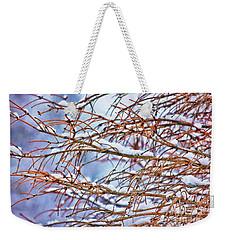 Lingering Winter Snow Weekender Tote Bag