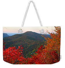 Weekender Tote Bag featuring the photograph Linville Gorge by Kathryn Meyer