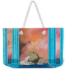 Lion And Lamb Weekender Tote Bag