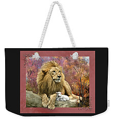 Lion And The Lamb Weekender Tote Bag