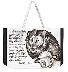 Lion And Yearling Weekender Tote Bag