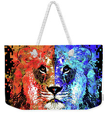 Lion Art - Majesty - Sharon Cummings Weekender Tote Bag by Sharon Cummings