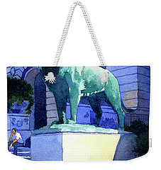 Lion At The Art Institue Of Chicago Weekender Tote Bag