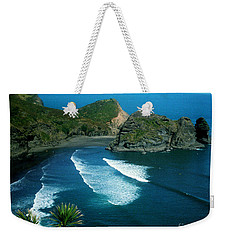 Lion Beach Piha New Zealand Weekender Tote Bag