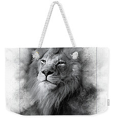 Lion Black White Weekender Tote Bag