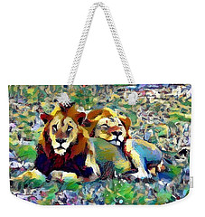Lion Buddies Weekender Tote Bag