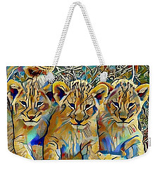 Lion Cubs Weekender Tote Bag