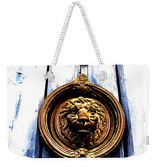 Weekender Tote Bag featuring the photograph Lion Dreams by Michelle Dallocchio