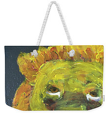 Weekender Tote Bag featuring the painting Lion Family Part 1 by Donald J Ryker III