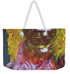 Weekender Tote Bag featuring the painting Lion Family Part 4 by Donald J Ryker III