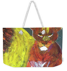 Weekender Tote Bag featuring the painting Lion Family Part 6 by Donald J Ryker III