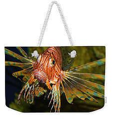 Lion Fish 2 Weekender Tote Bag by Kathryn Meyer